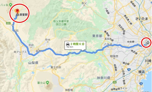 清里までの道