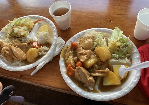 昼食のカレー