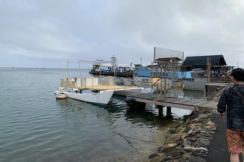 カネオヘ湾の港