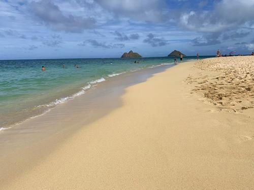 ラニカイビーチの白砂