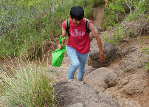 岩山を歩く
