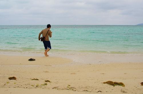 コンドイビーチに走る