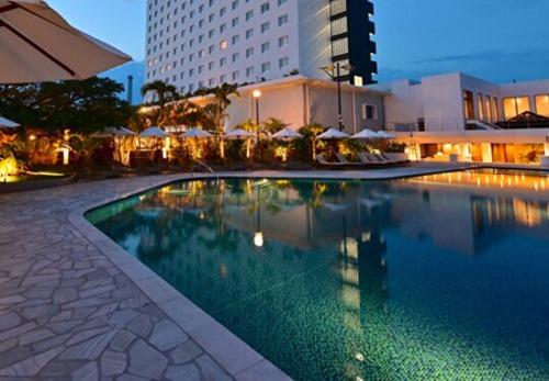 ホテルのガーデンプール