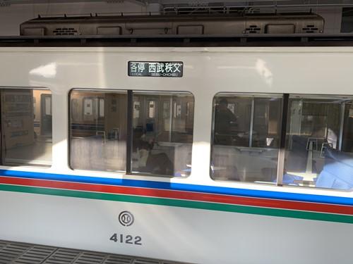 西武秩父行きの電車